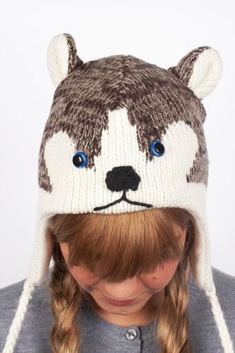 Шапка KNITWITS Happy The Husky (Grey) шапка knitwits elmo red