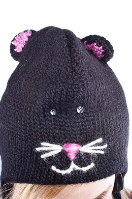 Шапка KNITWITS Kitty Face Black фото