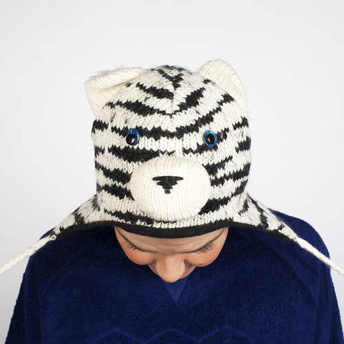 Шапка KNITWITS Sal The Siberian Tiger (White-Black) шапка knitwits unicorn white