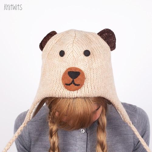 Шапка KNITWITS Teddy Bear (Beige) шапка knitwits unicorn white