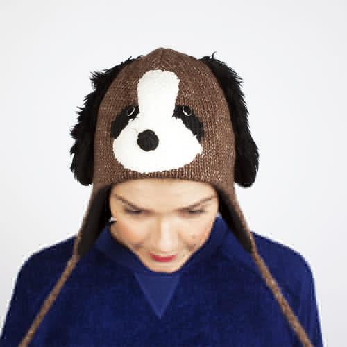 Шапка KNITWITS Doggy (Brown) шапка knitwits unicorn white