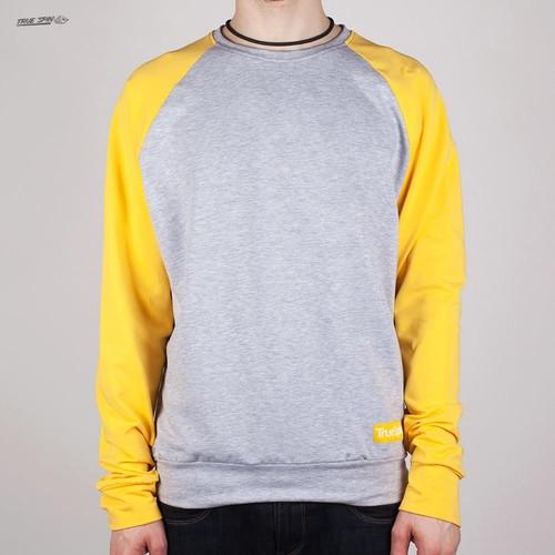 Толстовка TRUESPIN Easy Crewneck (Light-Grey-Yellow, M) цена