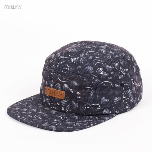 Бейсболка MISHKA Animal Parade 5-Panel (Stormy-Black, O/S) бейсболка mishka chaifned 5 panel black o s