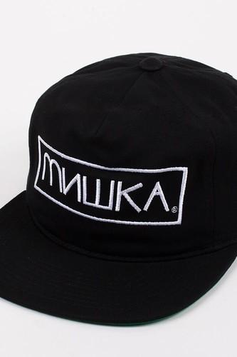 Бейсболка MISHKA Cyrillic Box Snap (Black, O/S) цена и фото