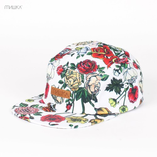 Бейсболка MISHKA Fragrant 5-Panel (White, O/S) бейсболка mishka chaifned 5 panel black o s