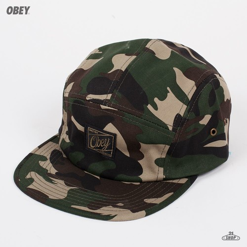 Бейсболка OBEY Expedition 5 Panel (Field-Camo, O/S) бейсболка obey ulster 5 panel light brown o s
