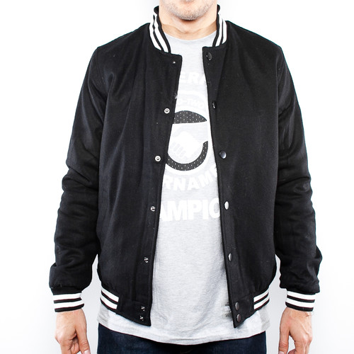 Куртка URBAN CLASSICS Wool College Jacket (Black, 2XL) куртка urban classics long bomber jacket black 2xl