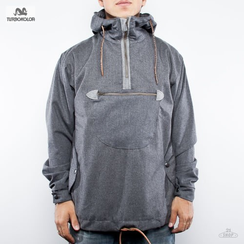 купить Анорак TURBOKOLOR Freitag Wool Jacket (Grey, L) дешево