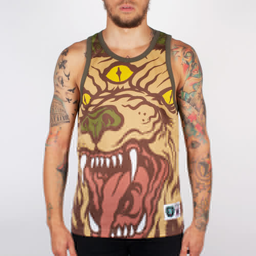 Майка MISHKA Beast Of The East Tank (Army, S) цена 2017