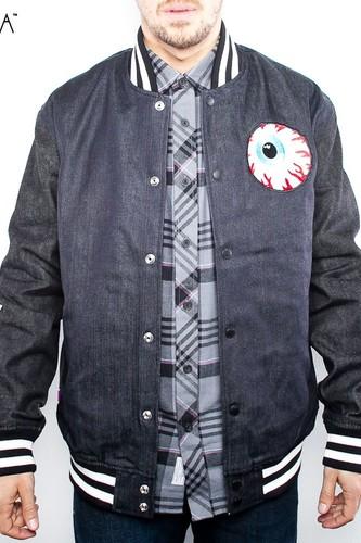 Куртка MISHKA Keep Watch Varsity Jacket (Raw-Indigo, XL)