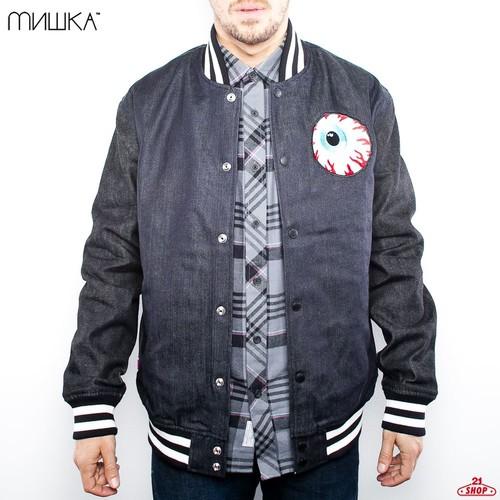 купить Куртка MISHKA Keep Watch Varsity Jacket (Raw-Indigo, XL) дешево
