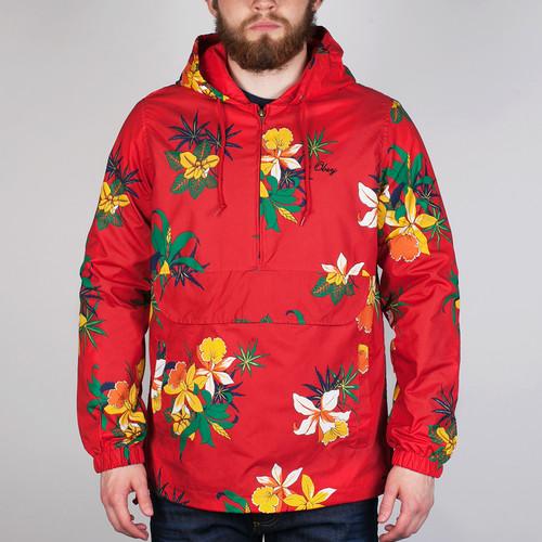 Куртка OBEY Pipeline Jacket (Red, M) куртка obey nation jacket black s