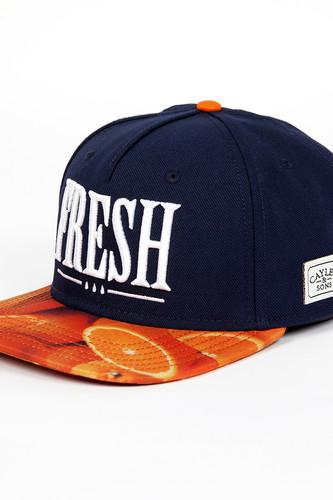 Бейсболка CAYLER & SONS Fresh Cap (Deep-Navy-Oranges-White, O/S) майка cayler