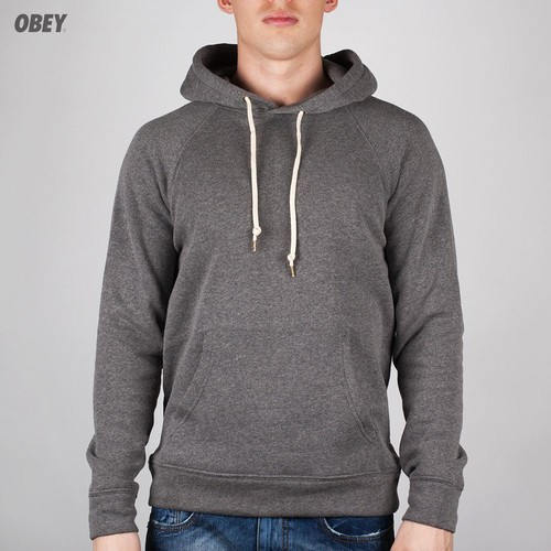 Толстовка OBEY Lofty Creature Comfort Hood Pullover (Heather Grey, L) grey embroidered pullover sports hoodies