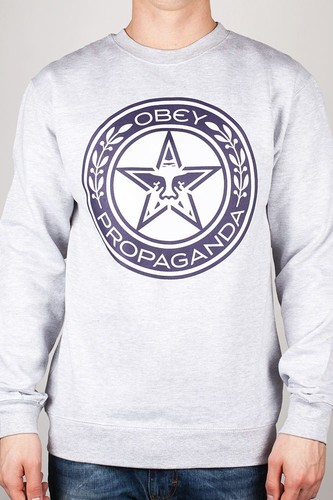цены Толстовка OBEY Luxury Propaganda (Heather-Grey, XL)