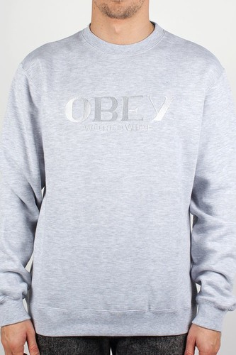 Толстовка OBEY Milan Crew (Heather-Grey, M) все цены