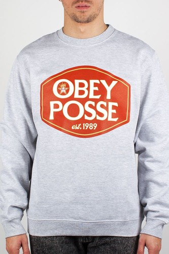 Толстовка OBEY Olde (Heather-Grey, M) все цены