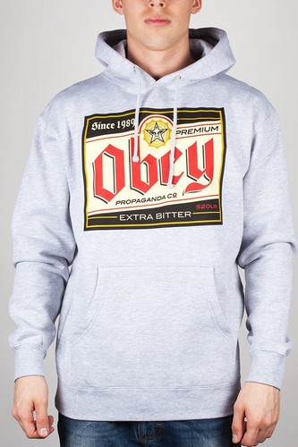 Толстовка OBEY Premium Propaganda Hoodie (Heather-Grey, L) футболка obey the shocker heather grey l