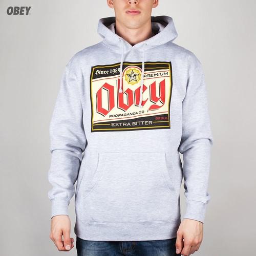 Толстовка OBEY Premium Propaganda Hoodie (Heather-Grey, L) цена