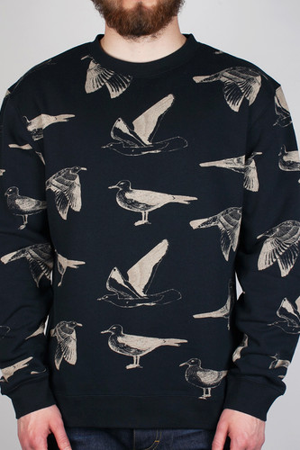 Толстовка OBEY Seagull Crew (Navy-Cream, M)