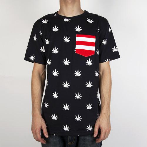 Футболка CAYLER & SONS Budz&Stripes Tee (Deep-Navy-White-Red, M) цены онлайн