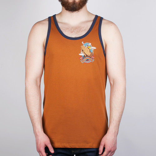 Майка OBEY High And Mighty (Ginger-Mood-Indigo, M) майка obey high and mighty ginger mood indigo m