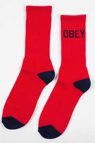 Носки OBEY Goal Line Socks (Red-Navy, O/S)