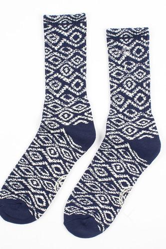 Носки OBEY Temple Socks (Navy, O/S)