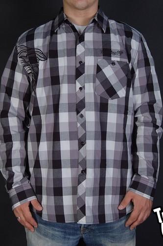 Рубашка CROOKS & CASTLES Bandito Box Plaid (Grey, S)