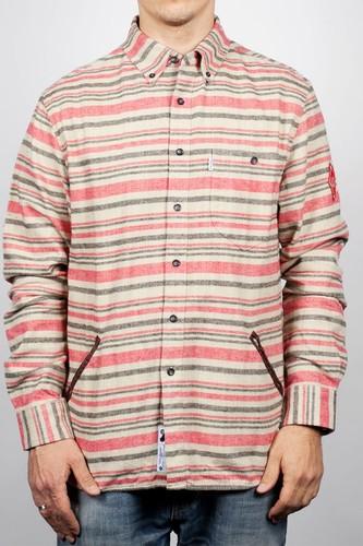 Рубашка CROOKS & CASTLES Southside Stripe (True-Red-Stripe, L)