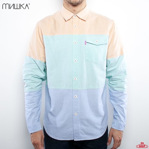 Рубашка MISHKA 3 Flavors Chambray (Grass, M) цены