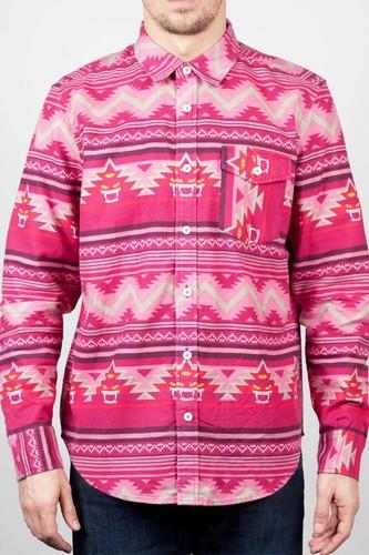 Рубашка MISHKA Vision Shirt Quest (Fire-Red, L) цена и фото