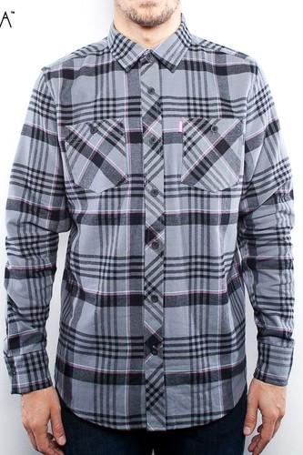 Рубашка MISHKA Whistler Flannel (Black-Lunar, S)