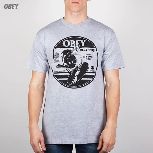 Футболка OBEY Bomb Bird (Heather-Grey, XL) футболка obey youth crew black xl