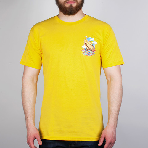 Футболка OBEY High And Mighty (Yellow, M) майка obey high and mighty ginger mood indigo m