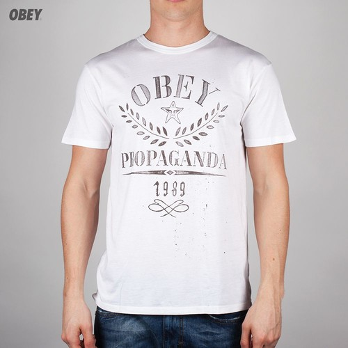 цена на Футболка OBEY Propaganda Flower Sack (Light-Grey, L)