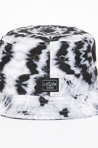Панама CAYLER & SONS Swirl Bucket Hat (Tie-Dye-Black-White, S/M)