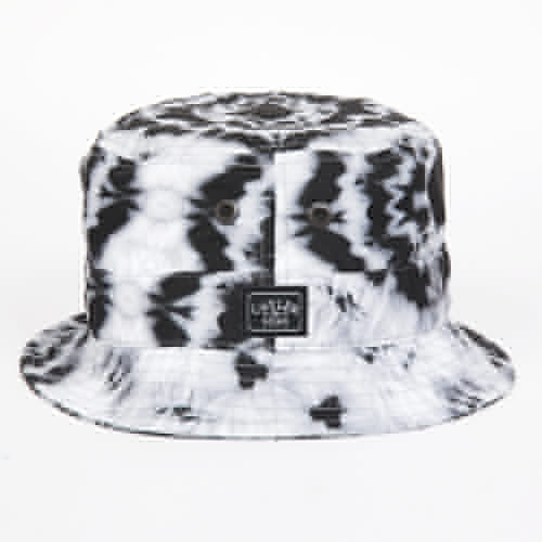 Панама CAYLER & SONS Swirl Bucket Hat (Tie-Dye-Black-White, S/M) панама мишка sunset tie dye bucket hat sunset s m