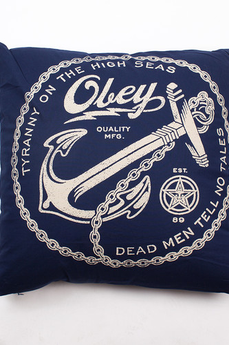 Подушка OBEY Anchor Pillow (Navy)