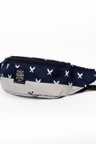 Сумка TURBOKOLOR Hip-Bag SS14 (Navy-Grey-Torch-Print) unicorn print striped makeup bag