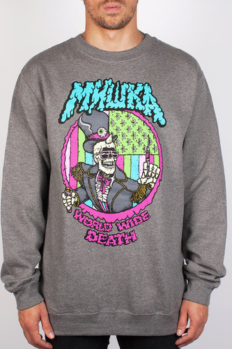 Толстовка MISHKA Cyco Pusher Crewneck (Salt-Pepper, XL)