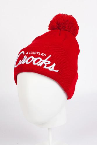 Шапка CROOKS & CASTLES Team Crooks Beanie (True Red)
