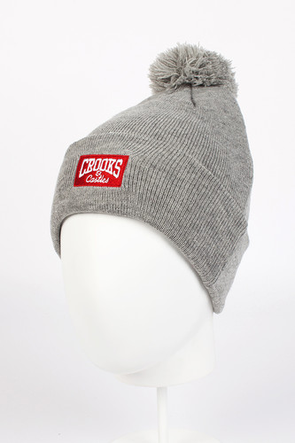 Шапка CROOKS & CASTLES Core Logo Beanie (Heather Grey) шапка меч logo grey серый