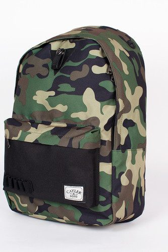 Рюкзак CAYLER & SONS Soldier Downtown Backpack (Woodland-Camo-Black-Black)