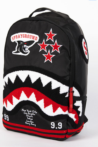 цена Рюкзак SPRAYGROUND Varsity Shark Backpack (B213-Multicolor) онлайн в 2017 году
