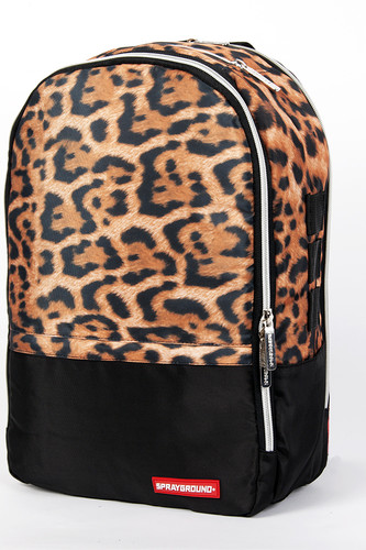 Рюкзак SPRAYGROUND $tashed Money Leopard Polyester Backpack (BU012-Multicolor)