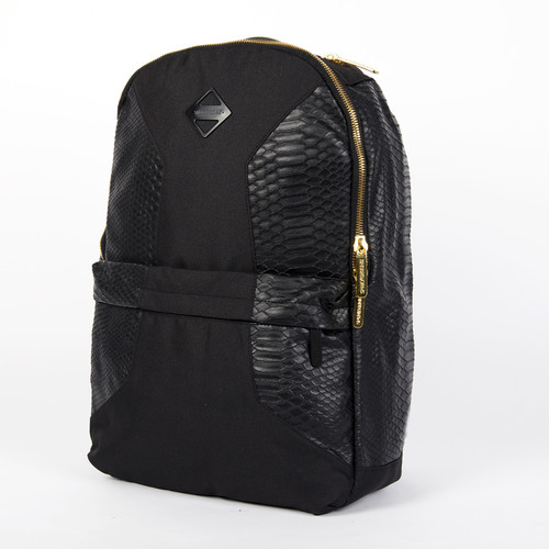 Рюкзак SPRAYGROUND Cut & Sew Faux Crocodile Backpack (B244-Black) men cut and sew panel hoodie