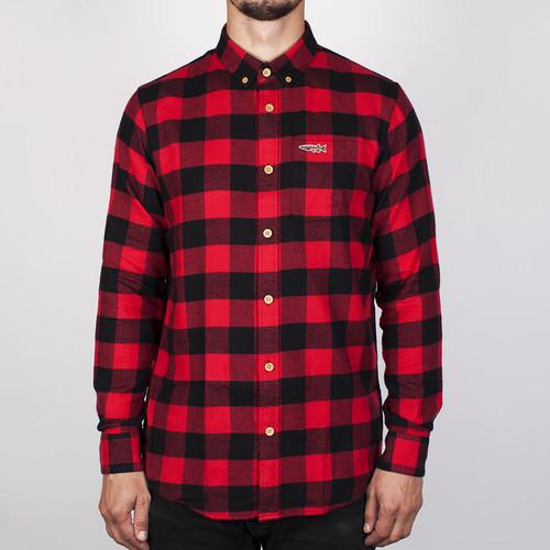 Рубашка MAZINE Koloa Shirt (Black/Jester Red Checked-12589, L)