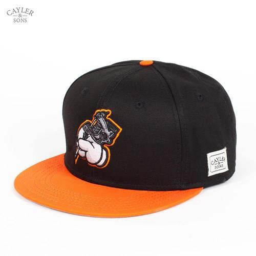 Бейсболка CAYLER & SONS Inked Cap (Black-Burnt-Orange-White, O/S) майка cayler
