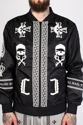 Куртка CROOKS & CASTLES Black Order Bomber Jacket (Black, XL)